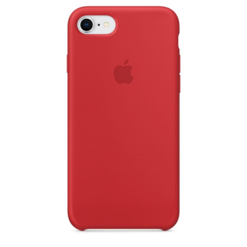 Чехол iPhone 8/7 - Silicone Case - PRODUCT RED (MQH12)