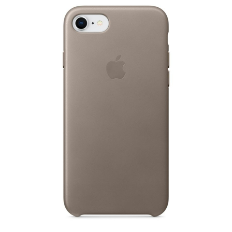 Чехол iPhone 8/7 - Leather Case - Taupe (MQH62)