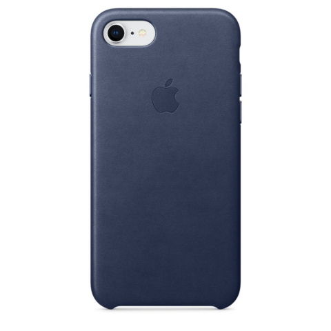 Чехол iPhone 8/7 - Leather Case - Midnight Blue (MQH82)
