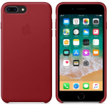 Чехол iPhone 8 Plus/7 Plus - Leather Case - PRODUCT RED (MQHN2)