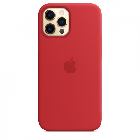 Чехол Apple для iPhone 12 Pro Max Silicone Case with MagSafe (PRODUCT) RED