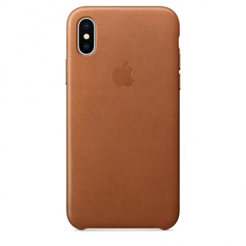 Чехол iPhone X/Xs - Leather Case - Saddle Brown (MRWP2)