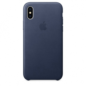 Чехол iPhone Xs Max - Leather Case - Midnight Blue (MRWU2)