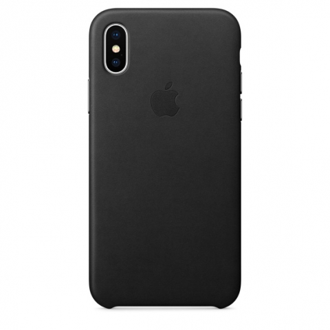 Чехол для iPhone Apple Leather Case Black (MQTD2) for iPhone X
