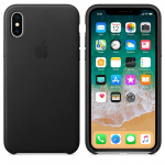 Чехол Apple iPhone Xs - Leather Case - Black (MRWM2)