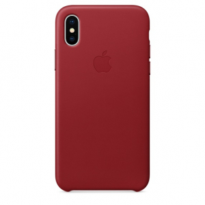 Чехол iPhone X/Xs - Leather Case - PRODUCT RED (MRWK2)