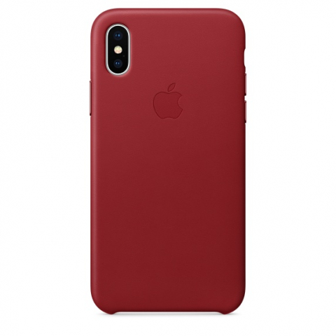 Чехол Apple iPhone Xs - Leather Case - PRODUCT Red (MRWM2)
