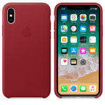 Чехол Apple iPhone Xs - Leather Case - PRODUCT Red (MRWK2)