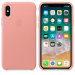 Чехол iPhone X/Xs - Leather Case - Soft Pink (MRGH2)