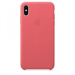 iPhone Xs Max - Leather Case - Peony Pink (MTEX2)
