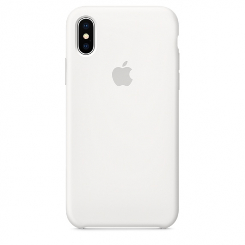 Чехол iPhone X/Xs - Silicone Case - White (MRW82)