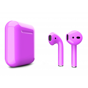Наушники Apple AirPods 2 with Amethyst Orchid (488c5) Gloss Charging Case (MV7N2) 2019