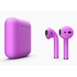 Наушники Apple AirPods 2 with Amethyst Orchid (488c5) Matte Wireless Charging Case (MRXJ2) 2019