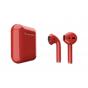 Наушники Apple AirPods 2 with Aurora Red (407g4) Gloss Charging Case (MV7N2) 2019