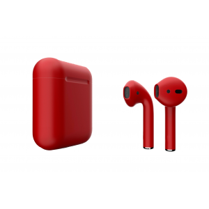 Наушники Apple AirPods 2 with Aurora Red (407g4) Matte Charging Case (MV7N2) 2019