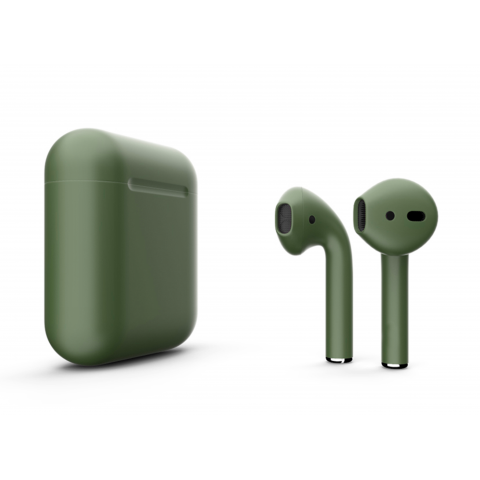 Наушники Apple AirPods 2 with Black Forest (5555) Matte Wireless Charging Case (MRXJ2) 2019