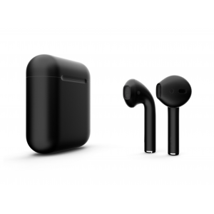 Наушники Apple AirPods 2 with Black (00) Matte Charging Case (MV7N2) 2019