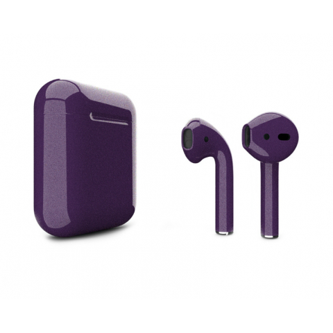 Наушники Apple AirPods 2 with Bright Violet (346F4) Gloss Wireless Charging Case (MRXJ2) 2019