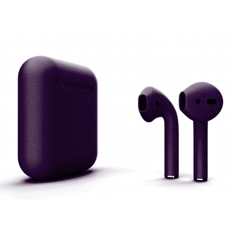 Наушники Apple AirPods 2 with Bright Violet (346F4) Matte Wireless Charging Case (MRXJ2) 2019