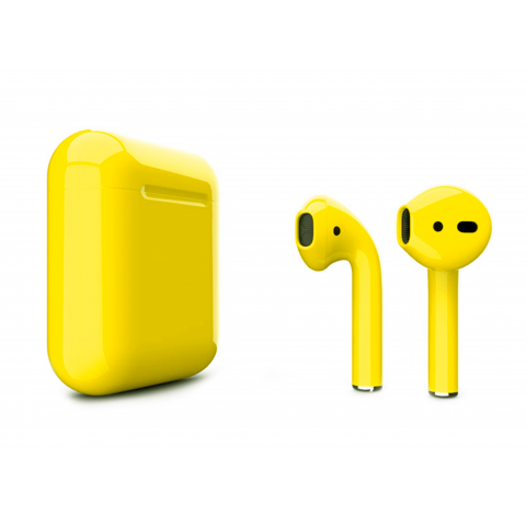 Наушники Apple AirPods 2 with Buttercup (502e5) Gloss Wireless Charging Case (MRXJ2) 2019