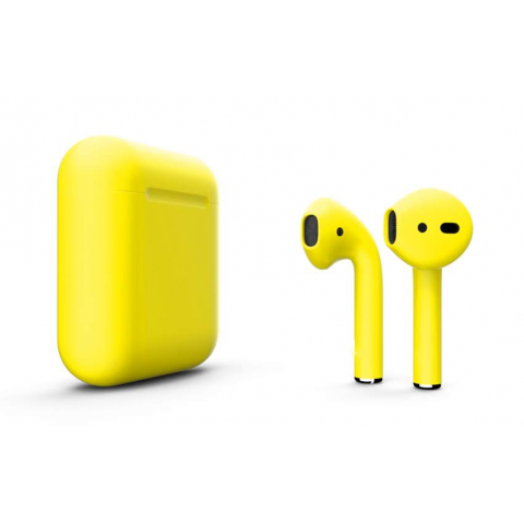 Наушники Apple AirPods 2 with Buttercup (502e5) Matte Wireless Charging Case (MRXJ2) 2019