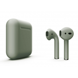 Наушники Apple AirPods 2 with Camping Green (446f2) Matte Wireless Charging Case (MRXJ2) 2019