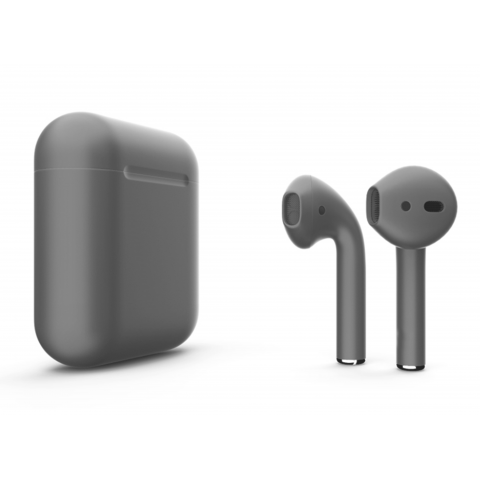 Наушники Apple AirPods 2 with Cool Gray (498g5) Matte Wireless Charging Case (MRXJ2) 2019
