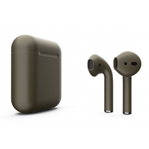 Наушники Apple AirPods 2 with Drab dark Brown (509a3) Matte Wireless Charging Case (MRXJ2) 2019