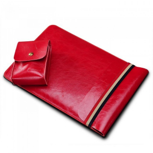 Чехол (карман) Coteetci Leather Bag красный для MacBook Air 13""