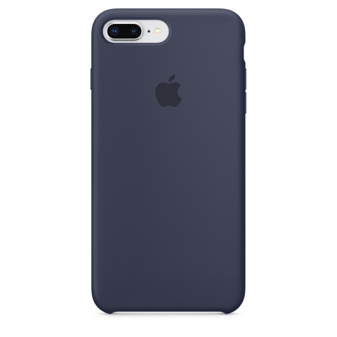 Чехол Apple Silicone Case iPhone 8 Plus/7 Plus Midnight Blue copi(A)