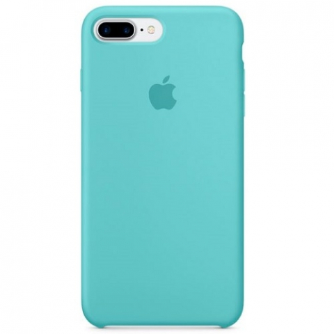 Чехол Apple Silicone Case iPhone 8 Plus/7 Plus Sea Blue copi(A)
