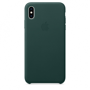 Кожаный чехол Apple Leather Case  iPhone XS Max Forest Green copi(A)