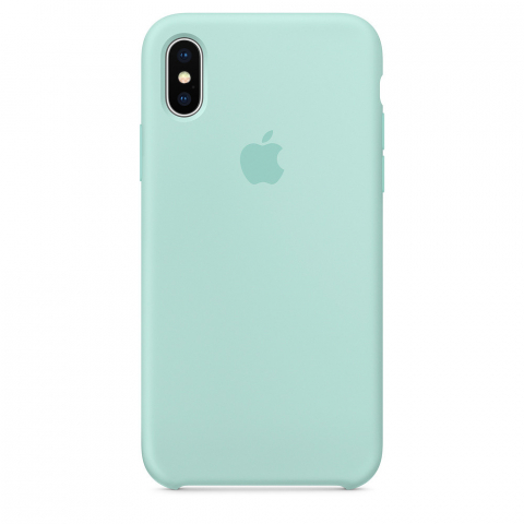 Чехол Apple Silicone Case iPhone X/XS Marine Green copi(B)