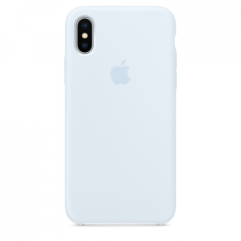 Чехол Apple Silicone Case iPhone X/XS Sky Blue copi(B)