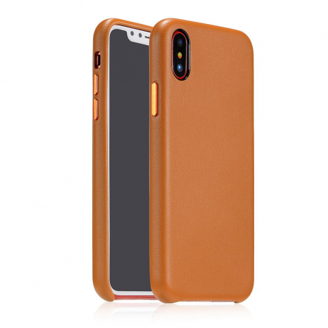 Чехол Coteetci Elegant PU Leather коричневый для iPhone X/XS