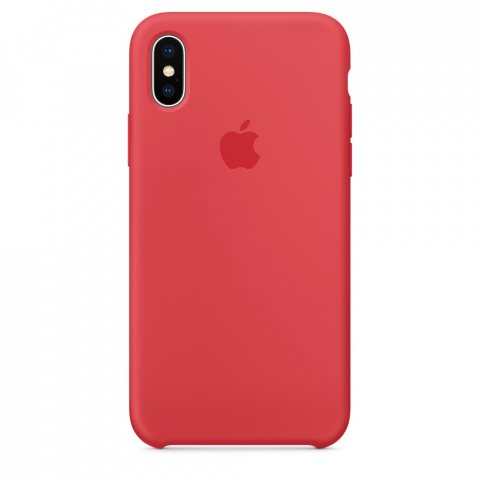 Чехол Apple Silicone Case iPhone X/XS Red Raspberry copi(B)