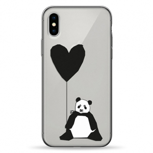 Чехол Pump Transperency Case for iPhone X/XS Sad Panda