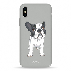 Чехол Pump Tender Touch Case for iPhone X/XS Mops on Gray