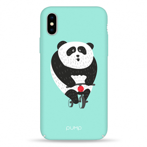 Чехол Pump Tender Touch Case for iPhone X/XS Panda Bicycle