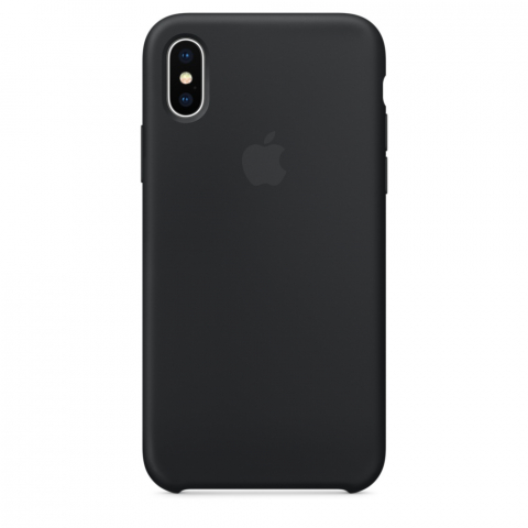 Чехол Apple Silicone Case iPhone X/XS Black copi(B)