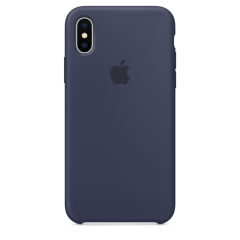 Чехол Apple Silicone Case iPhone X/XS Midnight Blue copi(B)