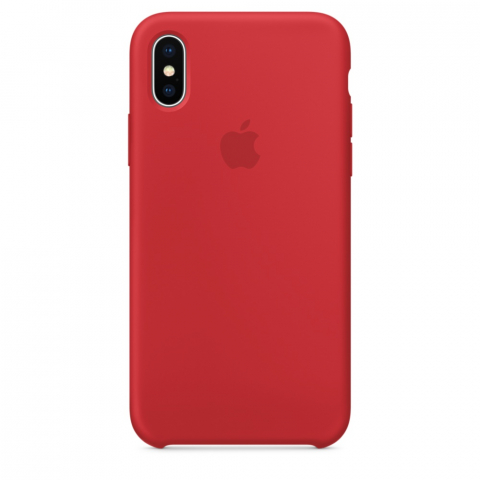Чехол Apple Silicone Case iPhone X/XS Red copi(B)