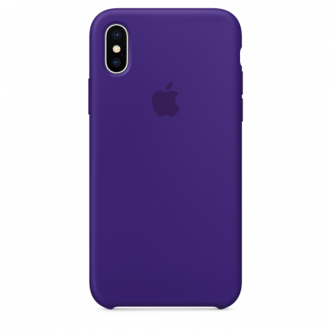 Чехол Apple Silicone Case iPhone X/XS  Ultra Violet copi(B)