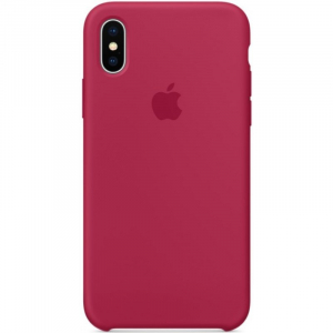 Чехол Apple Silicone Case iPhone X/XS Rose Red copi(B)