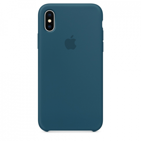 Чехол Apple Silicone Case iPhone X/XS Cosmos Blue copi(B)