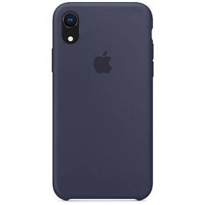 Чехол Apple Silicone Case iPhone XR Midnight Blue copi(A)