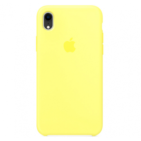 Чехол Apple Silicone Case  iPhone XR Yellow copi(B)