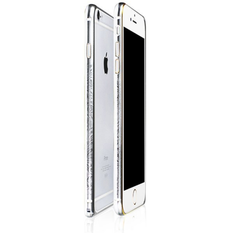 Чехол-бампер iBacks Arc-shaped Venezia серебристый для Apple iPhone 6/6S