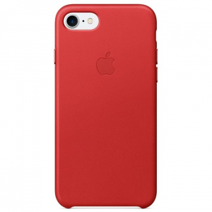 Кожаный чехол Apple Leather Case iPhone 7/8 Red copi(A)