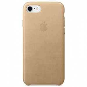 Кожаный чехол Apple Leather Case iPhone 7/8 Tan copi(A)